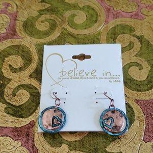 """L & J """"Believe In"""" Earrings"""
